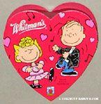 Linus & Sally dancing Heart-shaped Valentine's Chocolate Box