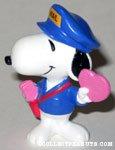 Postman Snoopy with Heart Card Valentine's PVC Figurine