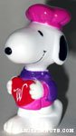 Chef Snoopy holding heart PVC Figurine