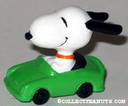 Snoopy in green car PVC Figurine