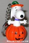 Snoopy in pumpkin PVC Keychain