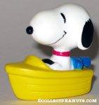 Snoopy in yellow boat PVC Figurine