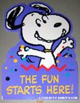 Peanuts & Snoopy Party Yard Signs
