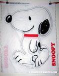 Snoopy walking stuffed doll Fabric Panel