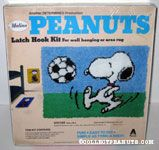 Snoopy playing soccer Latch Hook Kit