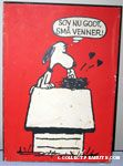 Snoopy kissing birds on head 'Sov Nu Got Sma Venner!' Wall Hanging