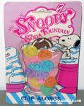 Snoopy Soda Fountain Clip-Alongs Glass Clips