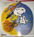 Witch Snoopy & Woodstock on broom Halloween Press-out