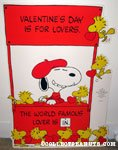 Snoopy 'World Famous Lover' booth Valentine Press-out
