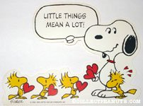 Woodstocks giving Snoopy hearts Valentine's Press-out