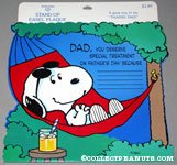 Snoopy in hammock Father's Day Stand-up Easel Plaque