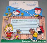 Peanuts Gang playing baseball Father's Day Stand Up Easel Plaque