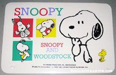 Snoopy & Woodstock scenes Placemat