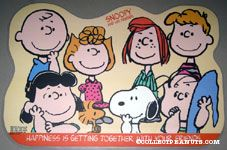 Happiness is getting together with your friends Placemat