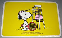 Tennis player Snoopy Placemat