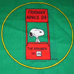 Click to view the Snoopy & Lucy Pillow Fabric Panel