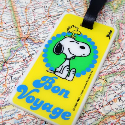 Snoopy Luggage Tag - Snoopy and Woodstock Bon Voyage Luggage Tag
