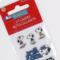 Snoopy Joe Cool Poses Puffy Stickers