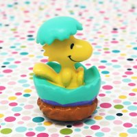 Woodstock hatching out of Easter Egg PVC Figurine