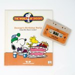 Snoopy's Birthday Party Tape and Book