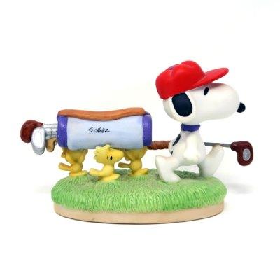 Snoopy and Woodstocks Golfing Figurine