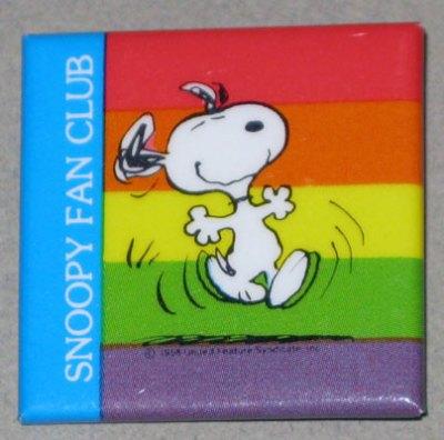 Snoopy Fan Club Button
