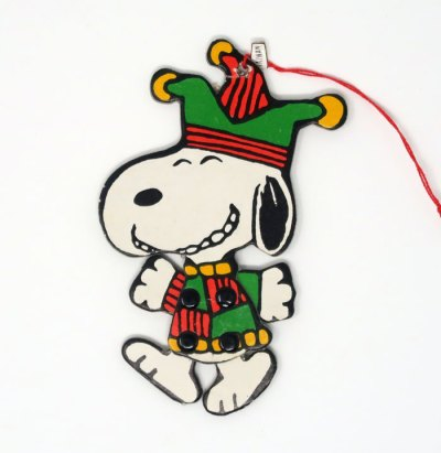 Snoopy Jester Jointed Ornament