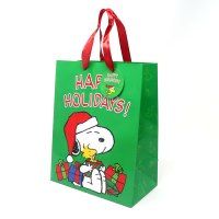 "Snoopy & Woodstock with presents ""Happy Holidays"" Gift Bag"