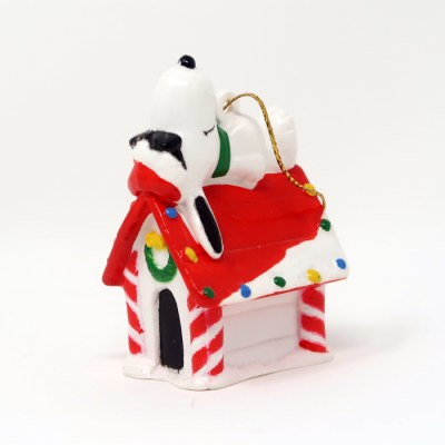 Joe Cool Snoopy on Christmas Doghouse Ornament