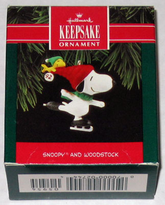 Snoopy And Woodstock Christmas Ornaments.Snoopy And Woodstock Skating Ornament Collectpeanuts Com