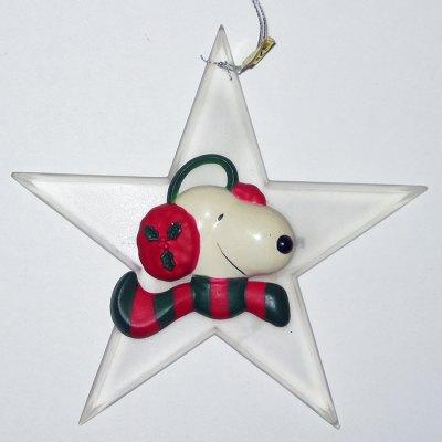 Snoopy Star Ornament