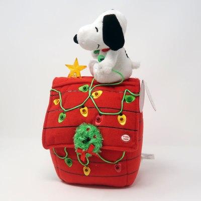 Snoopy on Christmas Doghouse light-up Plush
