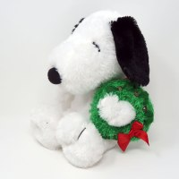 Snoopy with Wreath Plush Toy