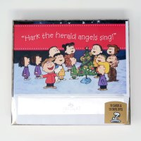 Peanuts Gang around Christmas Tree 'Hark the Herald Angels Sing' Christmas Cards