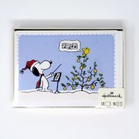 Snoopy & Woodstock in a pear tree Christmas Cards