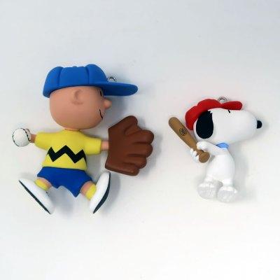 Snoopy & Charlie Brown Baseball Ornament
