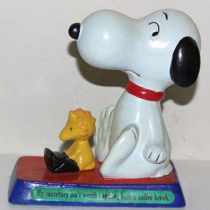 Snoopy Figurescene - Snoopy & Woodstock 'Secretary' Figurine