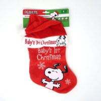 Baby's First Christmas Snoopy Christmas Stocking