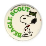 Snoopy Beaglescout Button