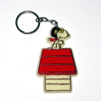 Snoopy Flying Ace on Doghouse Keychain
