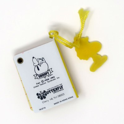 Snoopy Mini Telephone Book - Back