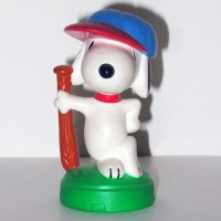 Snoopy baseball Playdoh Topper Figurine