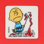Charlie Brown with his destroyed kite Patch