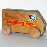 Snoopy's Bus Wooden Toy