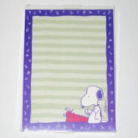 Snoopy Writer Stationary Tablet and Envelopes