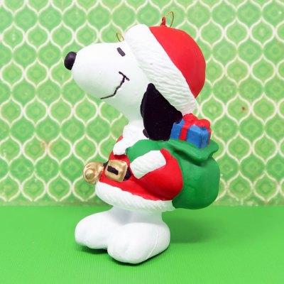 Santa Snoopy Christmas Ornament