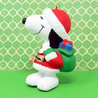 Santa Snoopy Christmas Ornament