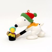 Snoopy and Woodstock Playing Hockey Ornament