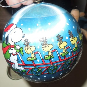 Snoopy And Woodstock Christmas Ornaments.1982 Snoopy Woodstock Hallmark Christmas Ornament