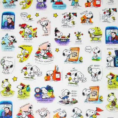 Snoopy & Woodstock School Year Calendar - 1992-1993
